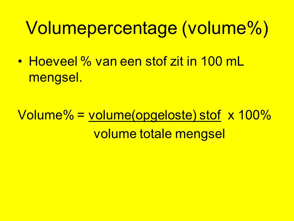 Volumepercentage (volume%)