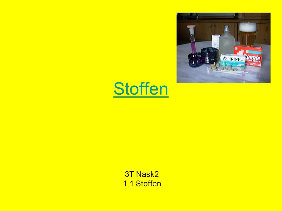 Stoffen 3T Nask2 1.1 Stoffen