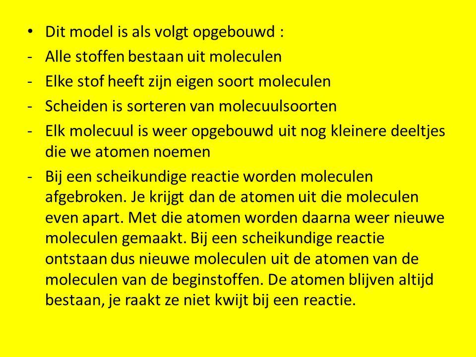Dit model is als volgt opgebouwd :