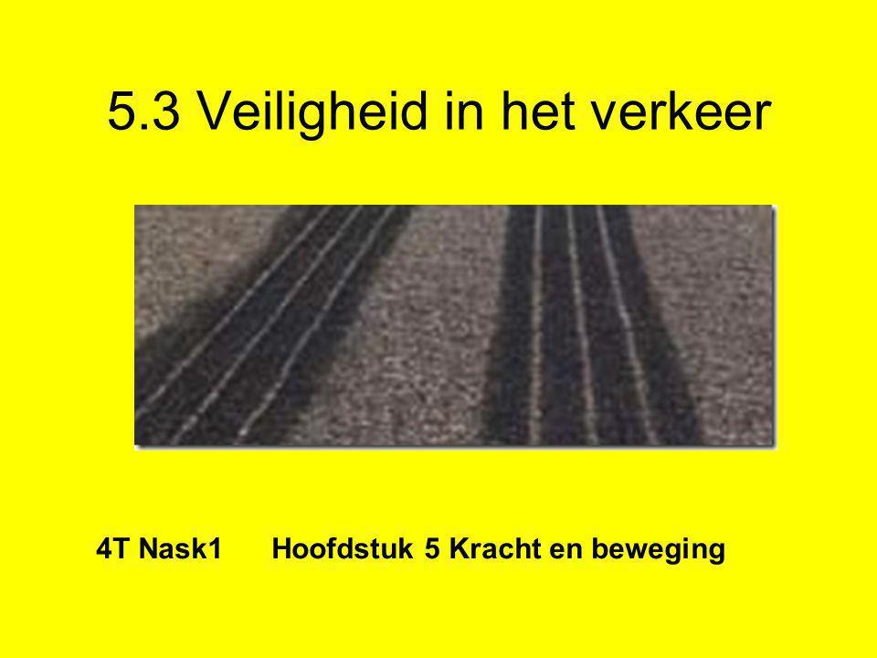 5.3 Veiligheid in het verkeer