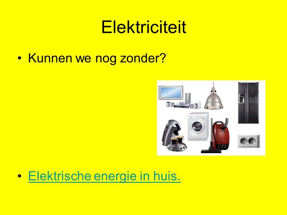 Elektriciteit Kunnen we nog zonder Elektrische energie in huis.