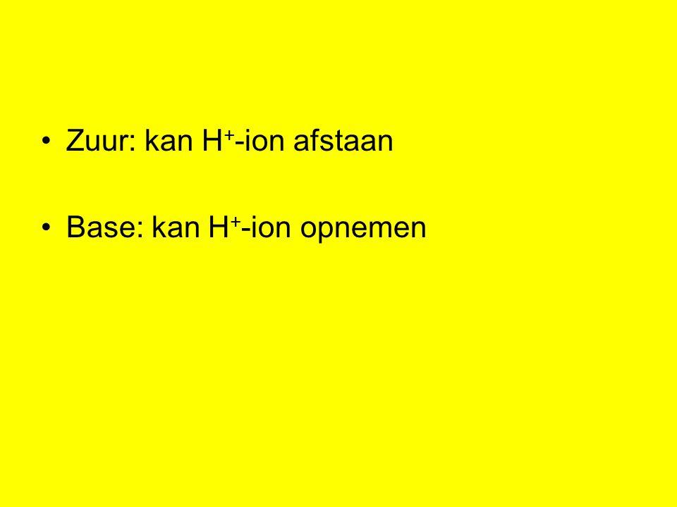 Zuur: kan H+-ion afstaan