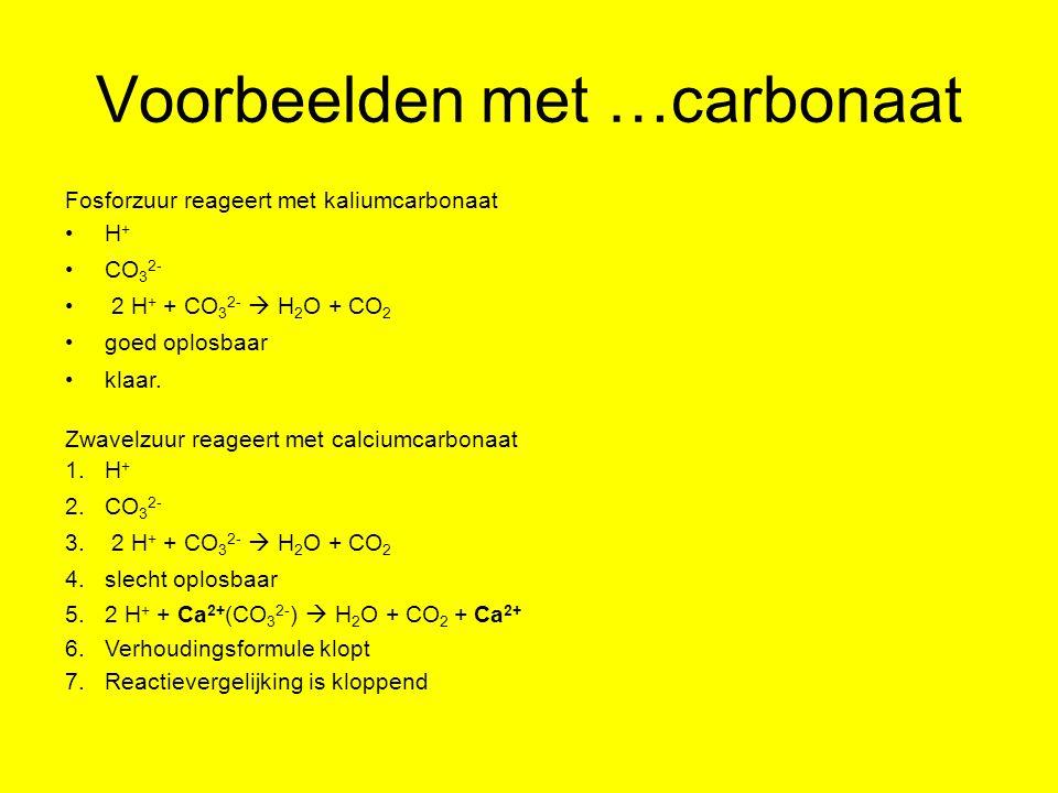 Voorbeelden met …carbonaat