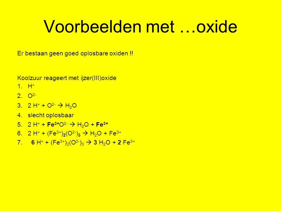Voorbeelden met …oxide
