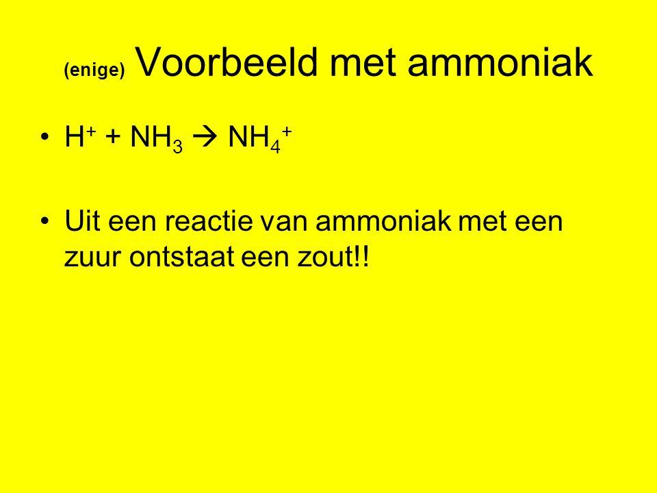 (enige) Voorbeeld met ammoniak