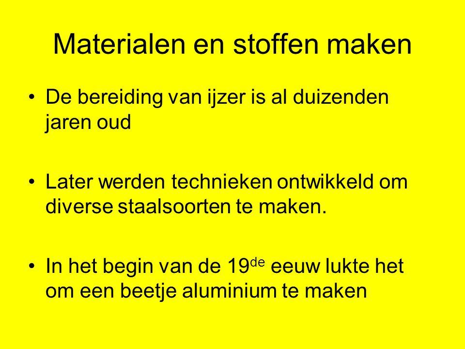 Materialen en stoffen maken