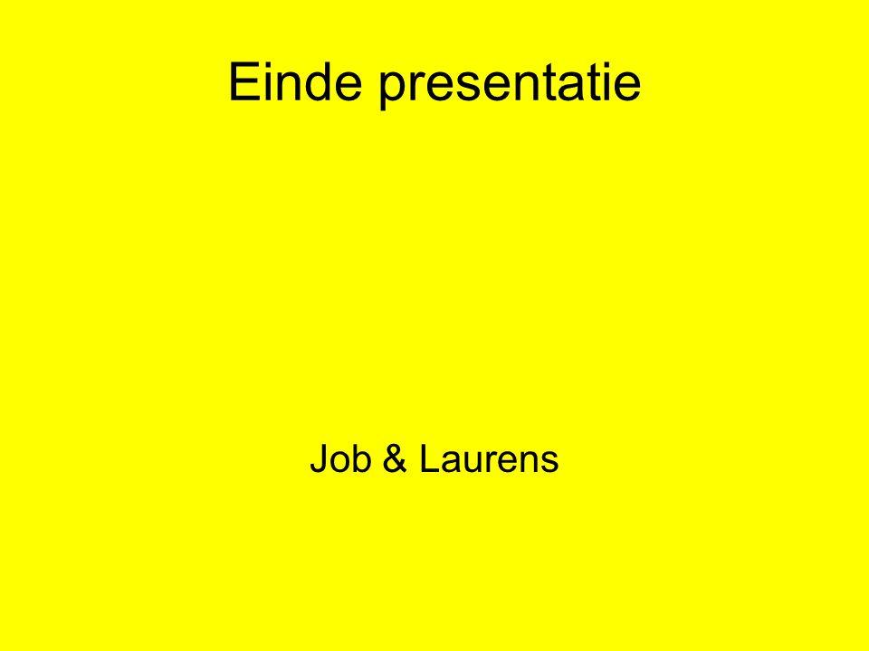 Einde presentatie Job & Laurens