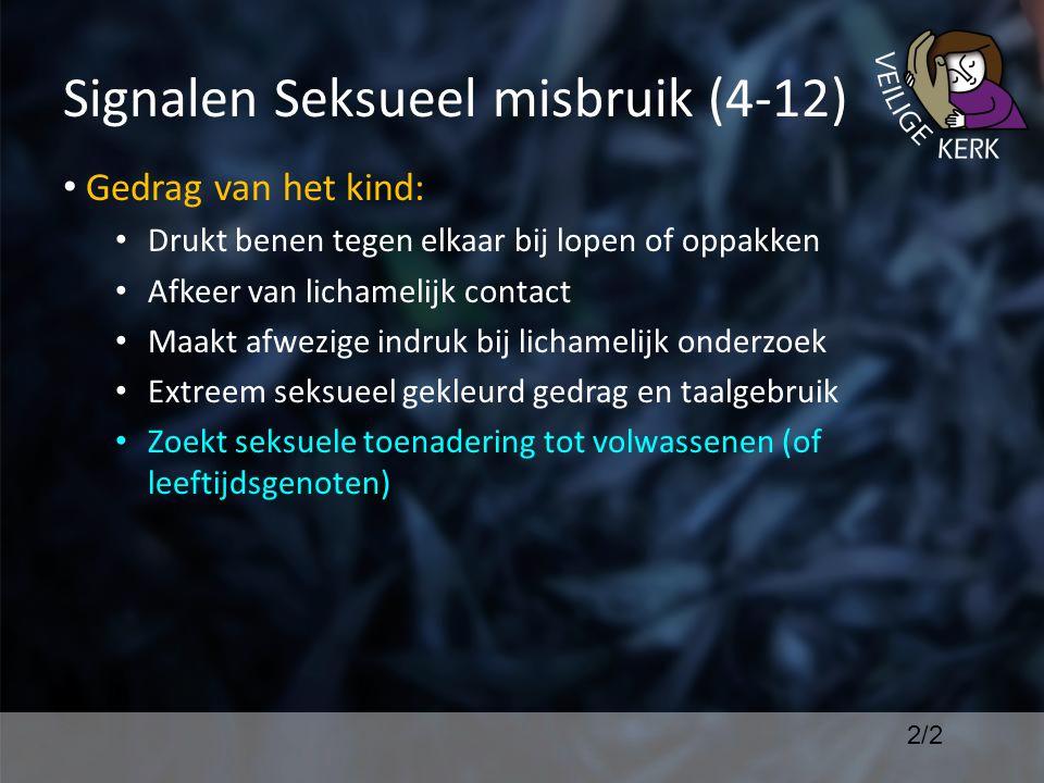Signalen Seksueel misbruik (4-12)