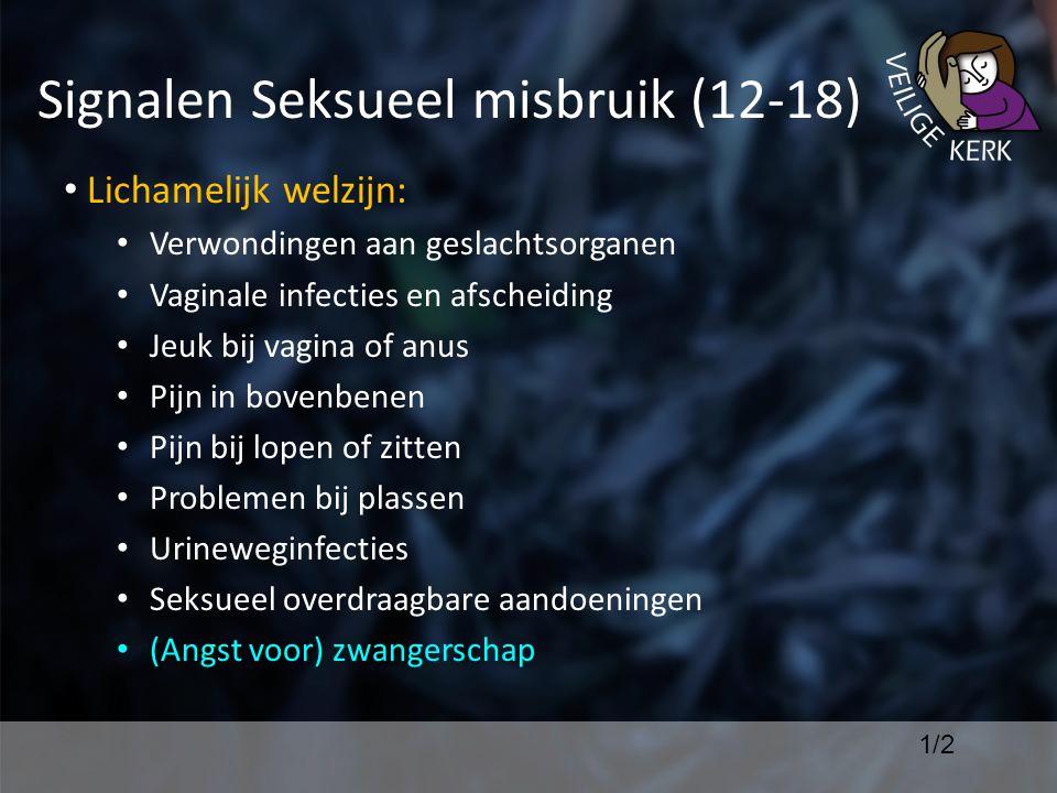 Signalen Seksueel misbruik (12-18)