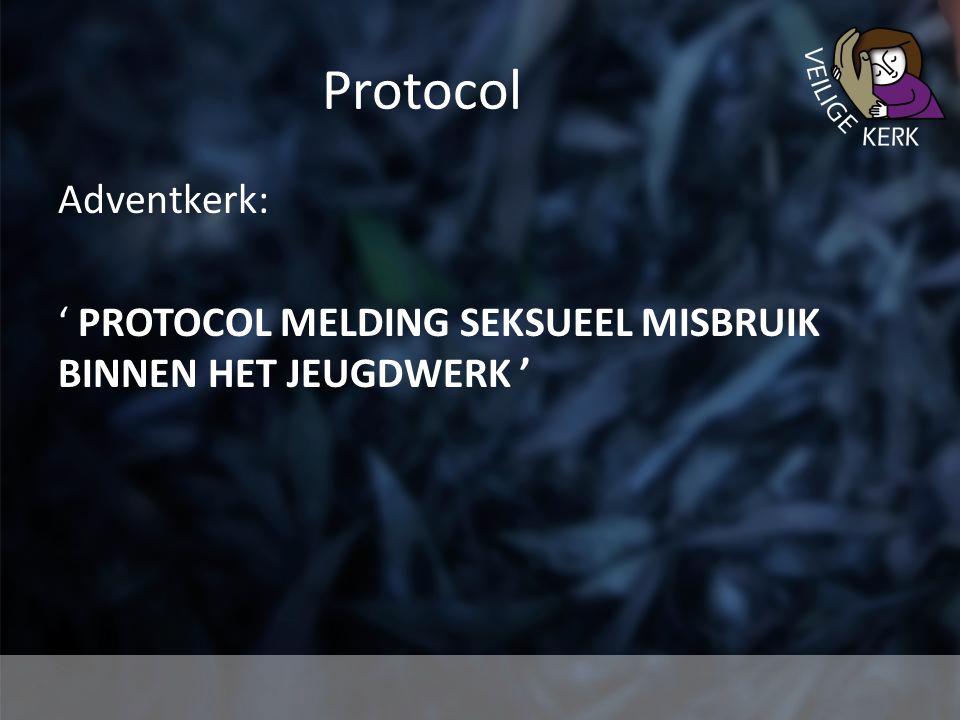 Protocol Adventkerk: ' PROTOCOL MELDING SEKSUEEL MISBRUIK BINNEN HET JEUGDWERK '