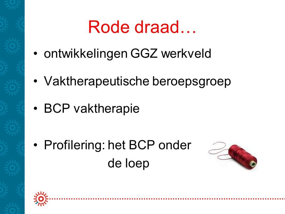 Rode draad… ontwikkelingen GGZ werkveld Vaktherapeutische beroepsgroep