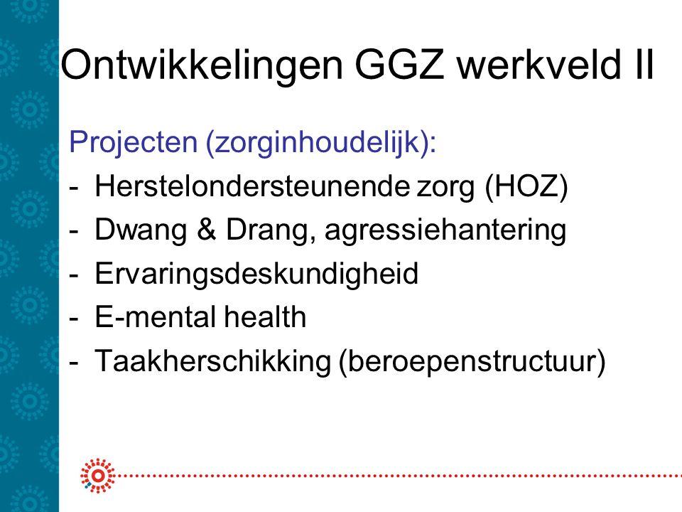 Ontwikkelingen GGZ werkveld II