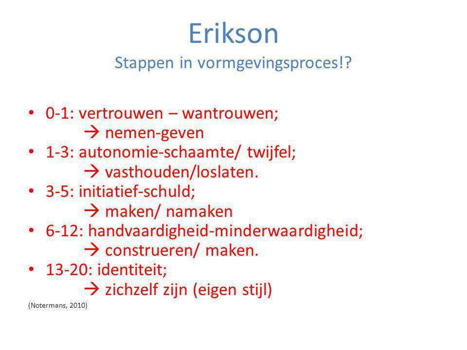Erikson Stappen in vormgevingsproces!
