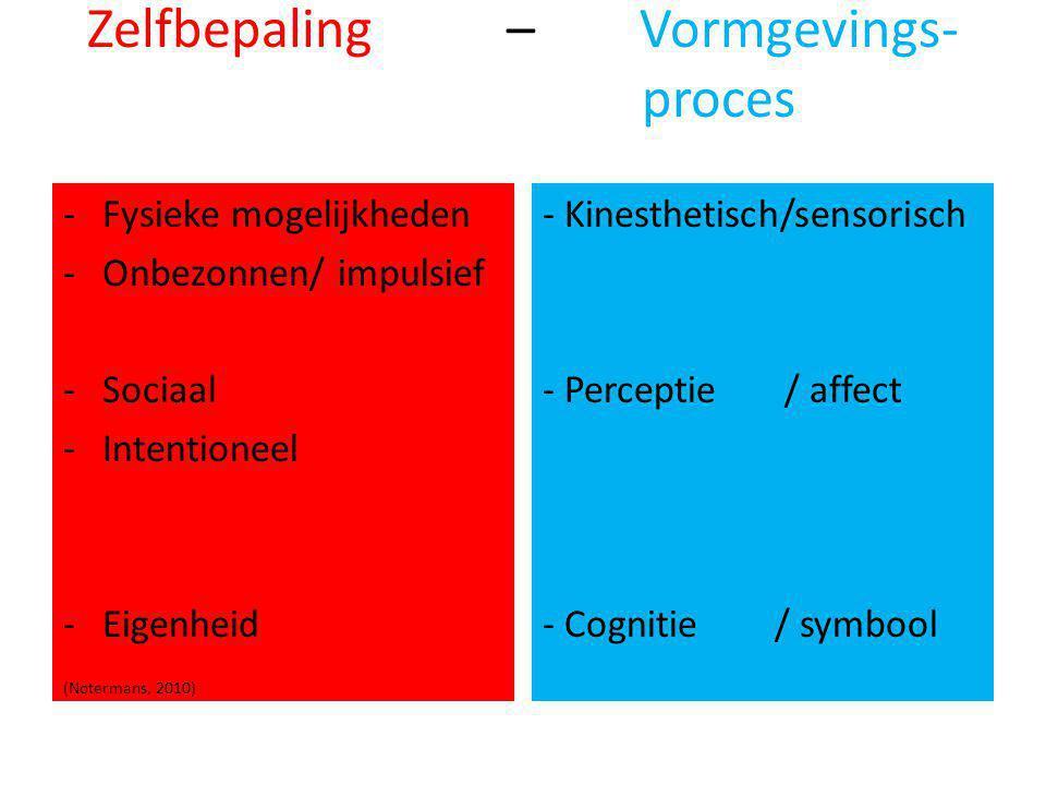 Zelfbepaling – Vormgevings- proces