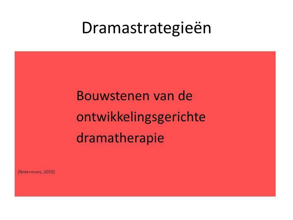 Dramastrategieën ontwikkelingsgerichte dramatherapie Bouwstenen van de