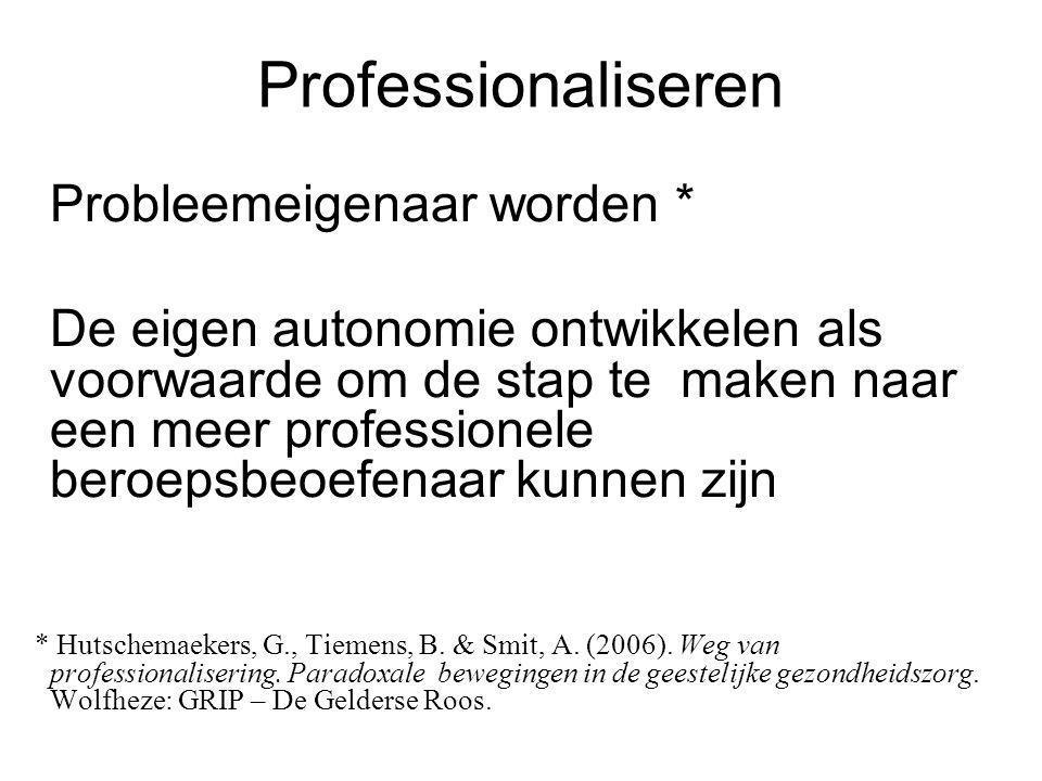Professionaliseren Probleemeigenaar worden *