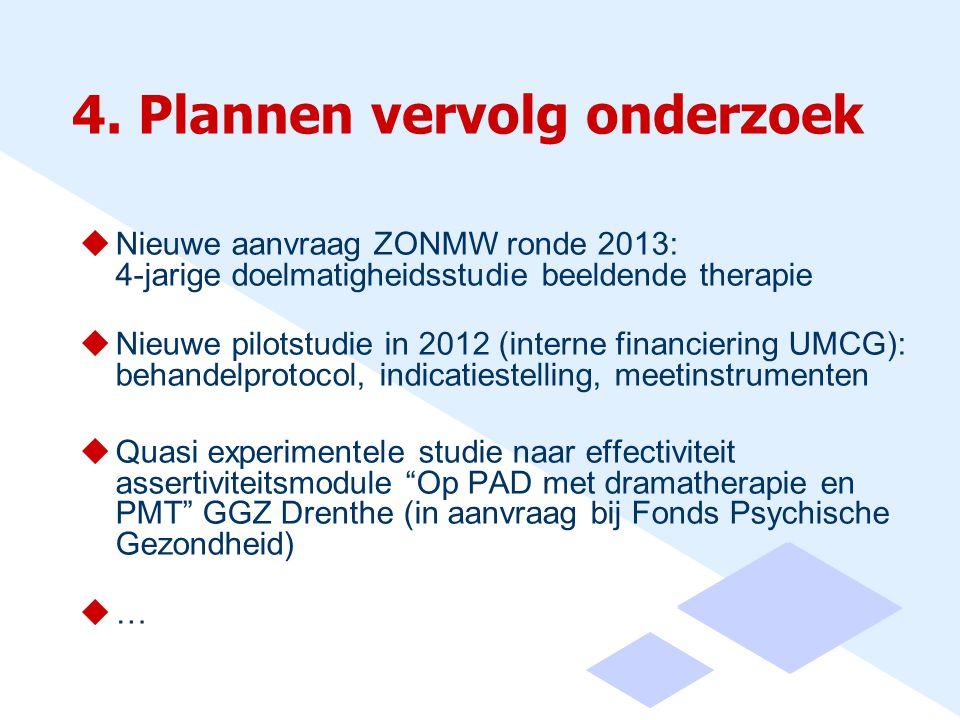 4. Plannen vervolg onderzoek