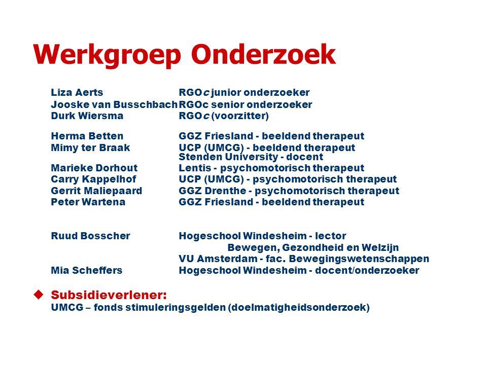 Werkgroep Onderzoek Liza Aerts RGOc junior onderzoeker