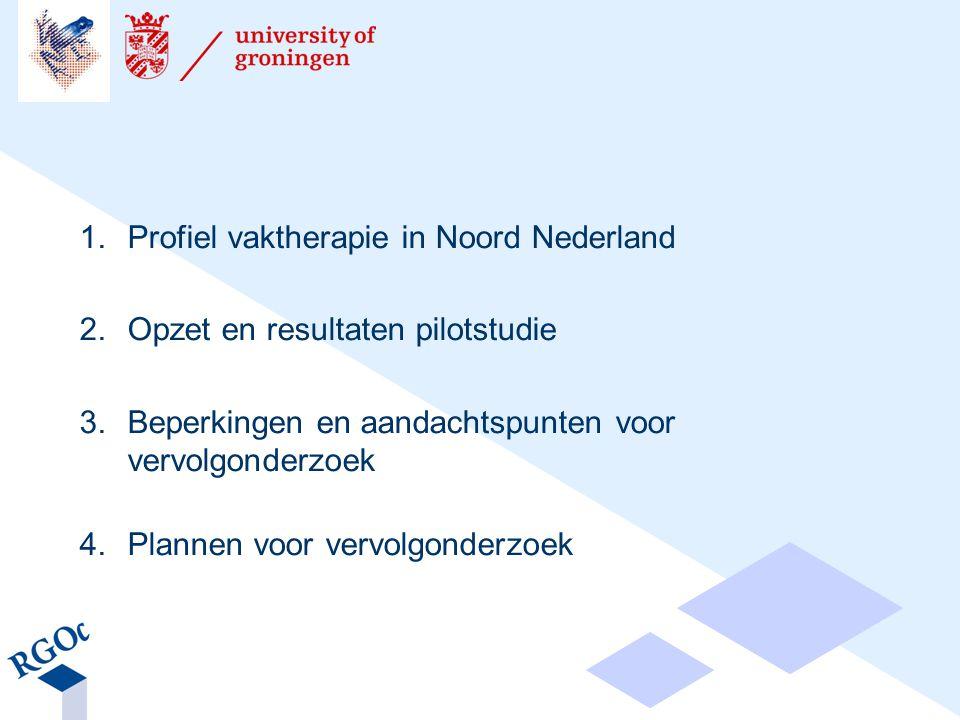 1. Profiel vaktherapie in Noord Nederland
