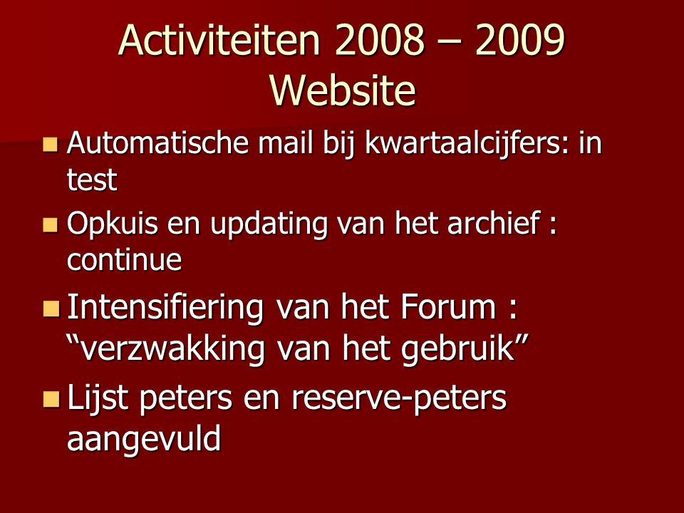 Activiteiten 2008 – 2009 Website