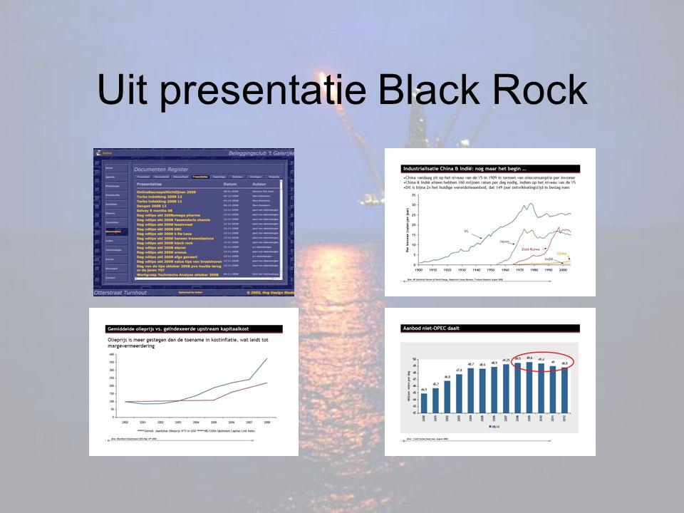 Uit presentatie Black Rock