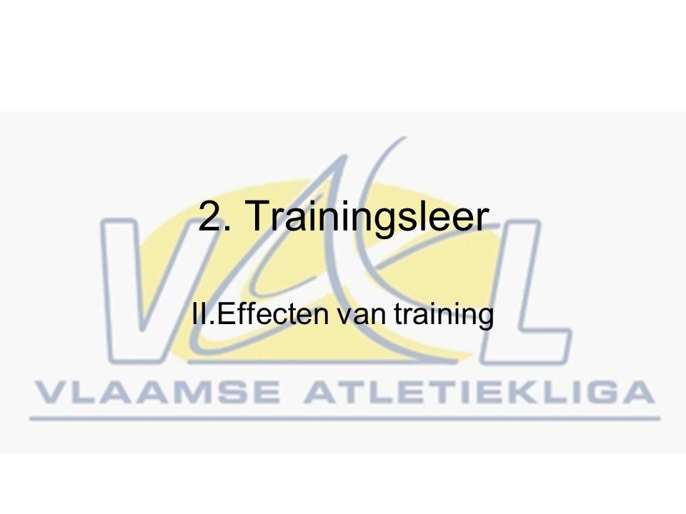 II.Effecten van training