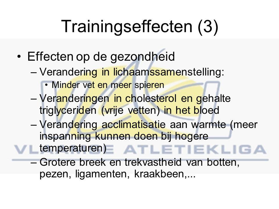 Trainingseffecten (3) Effecten op de gezondheid
