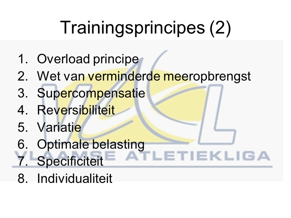 Trainingsprincipes (2)