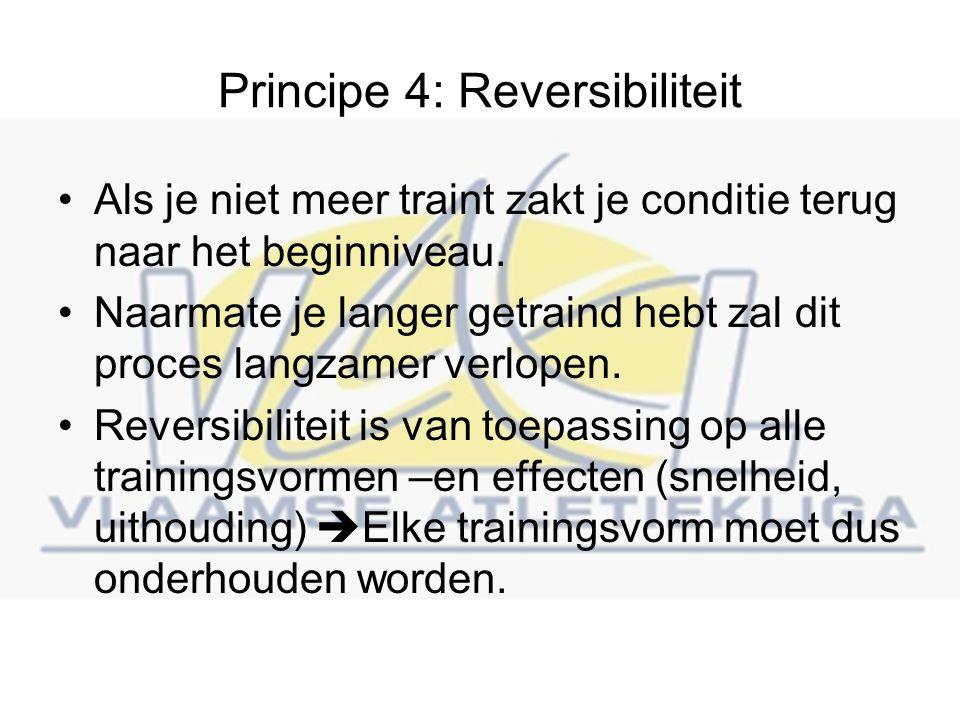 Principe 4: Reversibiliteit