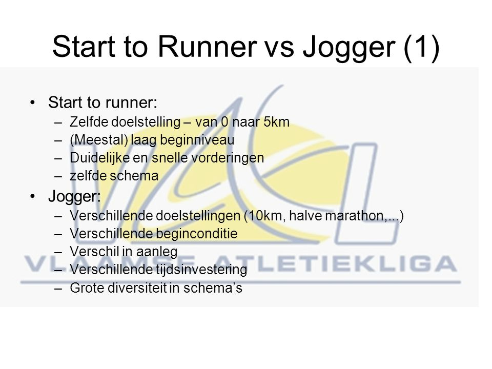 Start to Runner vs Jogger (1)