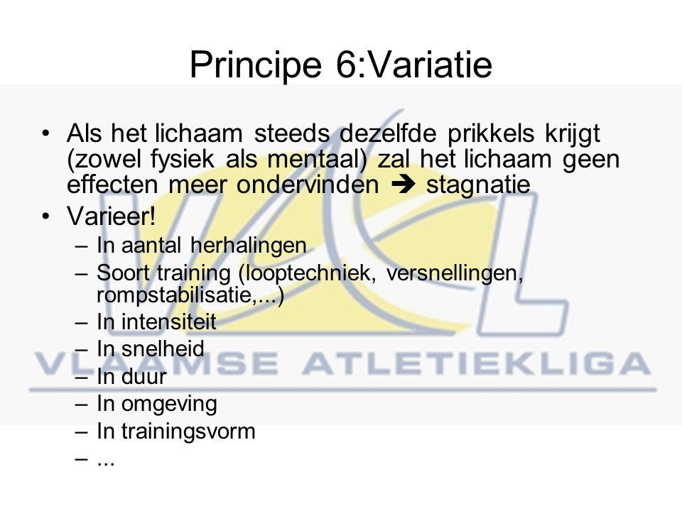 Principe 6:Variatie