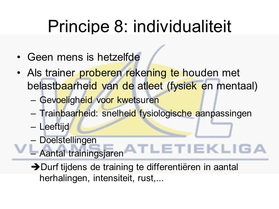 Principe 8: individualiteit