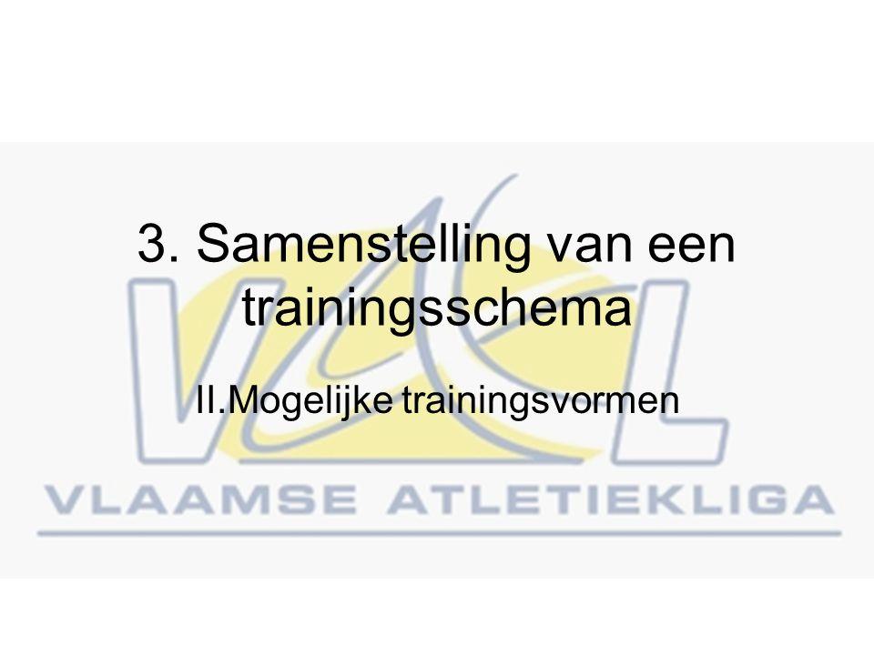 3. Samenstelling van een trainingsschema