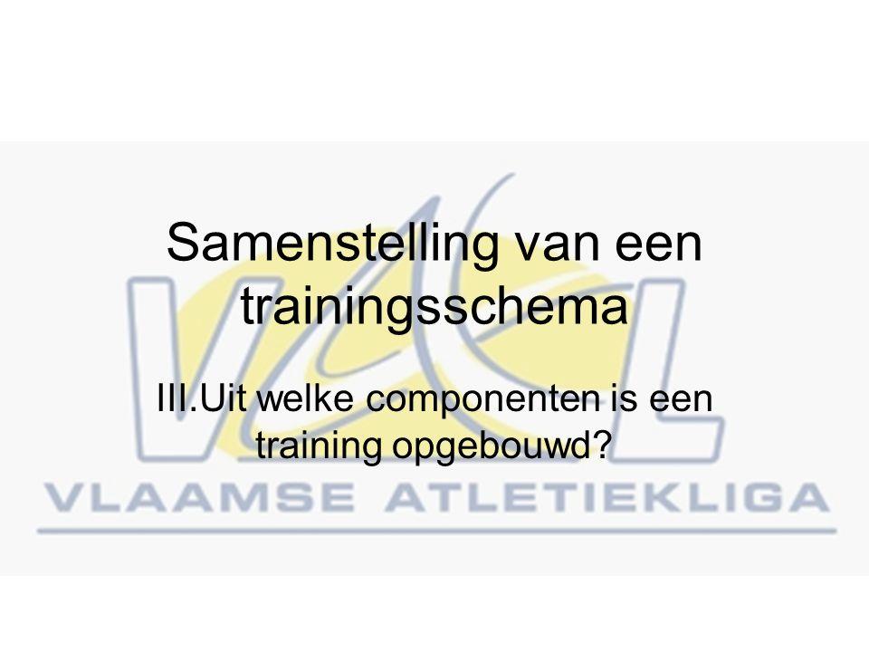 Samenstelling van een trainingsschema