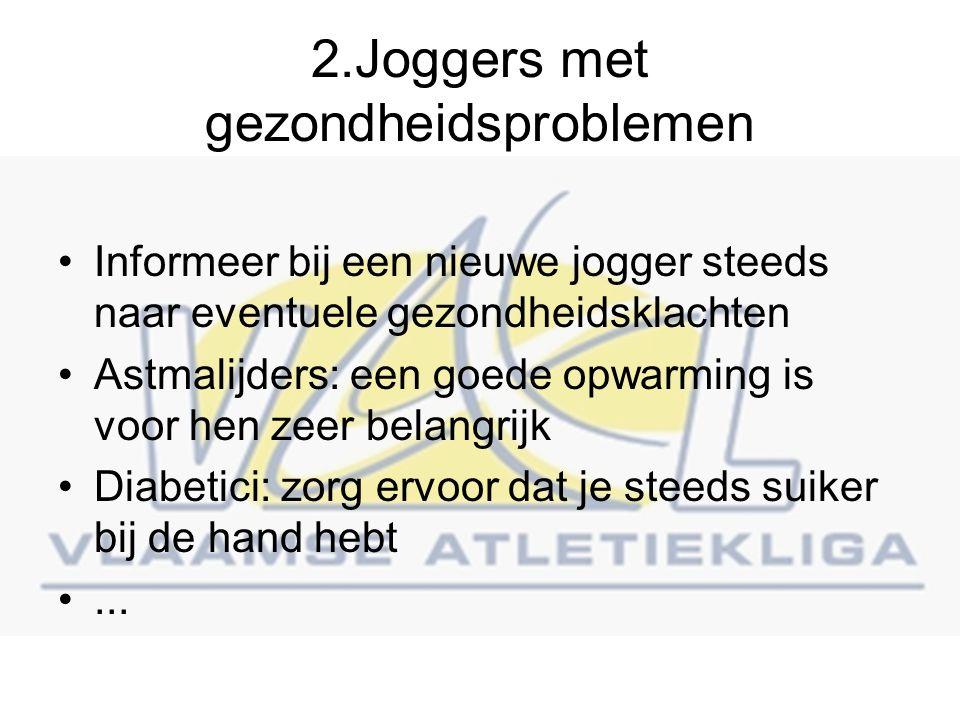 2.Joggers met gezondheidsproblemen