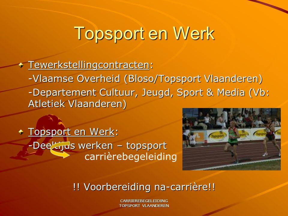 Topsport en Werk Tewerkstellingcontracten: