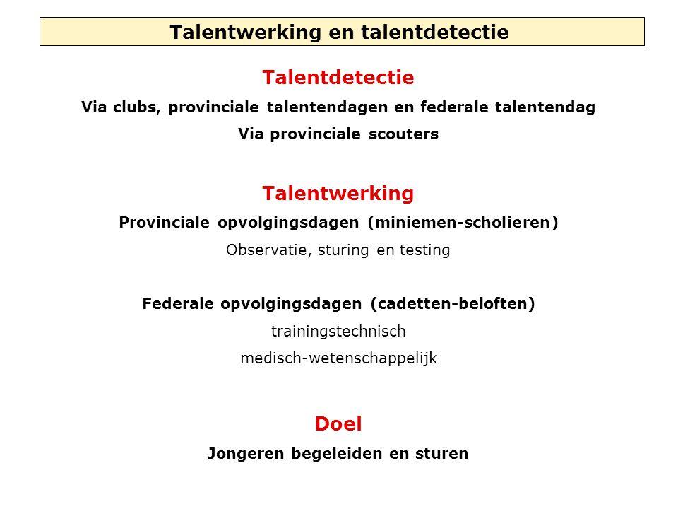 Talentwerking en talentdetectie Talentdetectie Talentwerking Doel