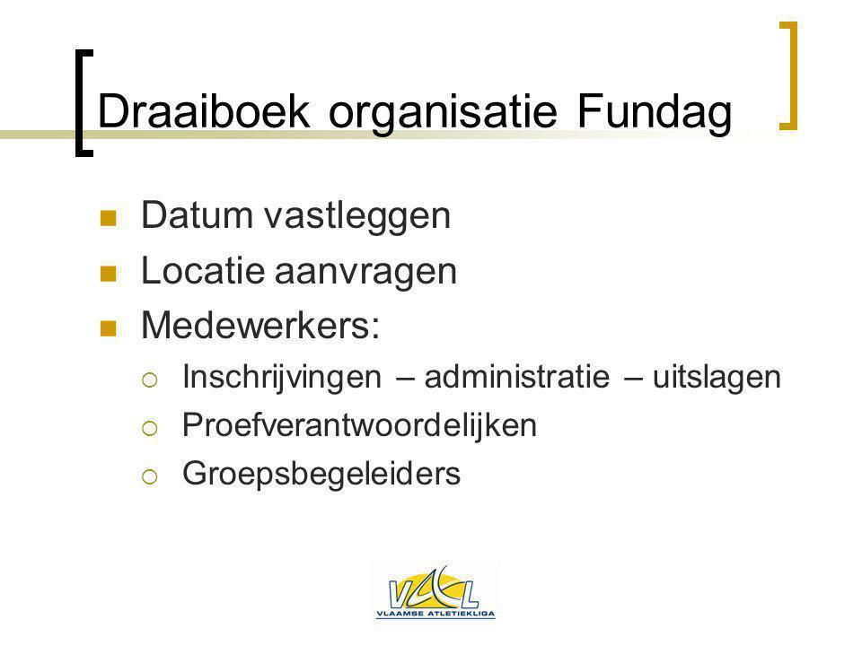 Draaiboek organisatie Fundag