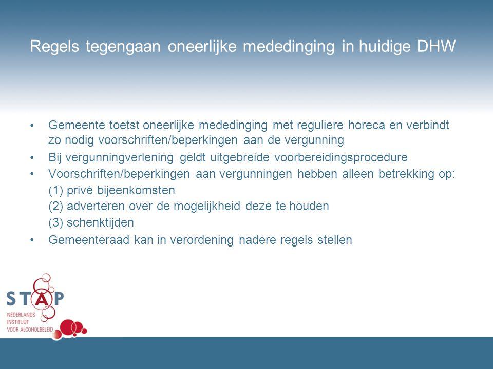Regels tegengaan oneerlijke mededinging in huidige DHW