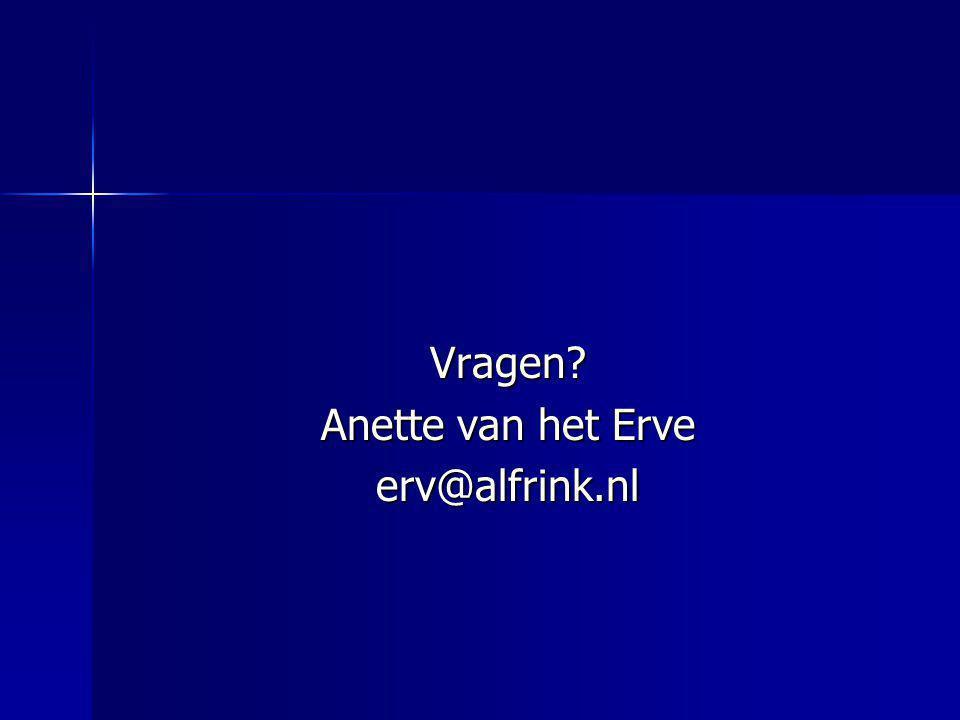 Vragen Anette van het Erve erv@alfrink.nl