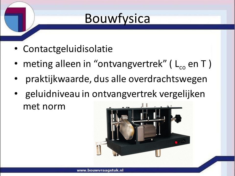Bouwfysica Contactgeluidisolatie