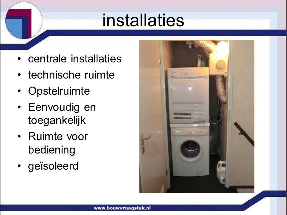 installaties centrale installaties technische ruimte Opstelruimte
