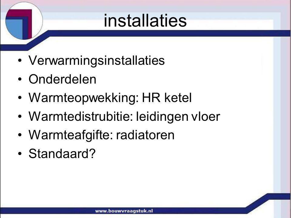 installaties Verwarmingsinstallaties Onderdelen