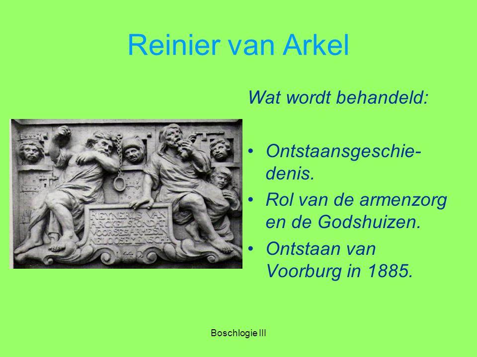Reinier van Arkel Wat wordt behandeld: Ontstaansgeschie-denis.