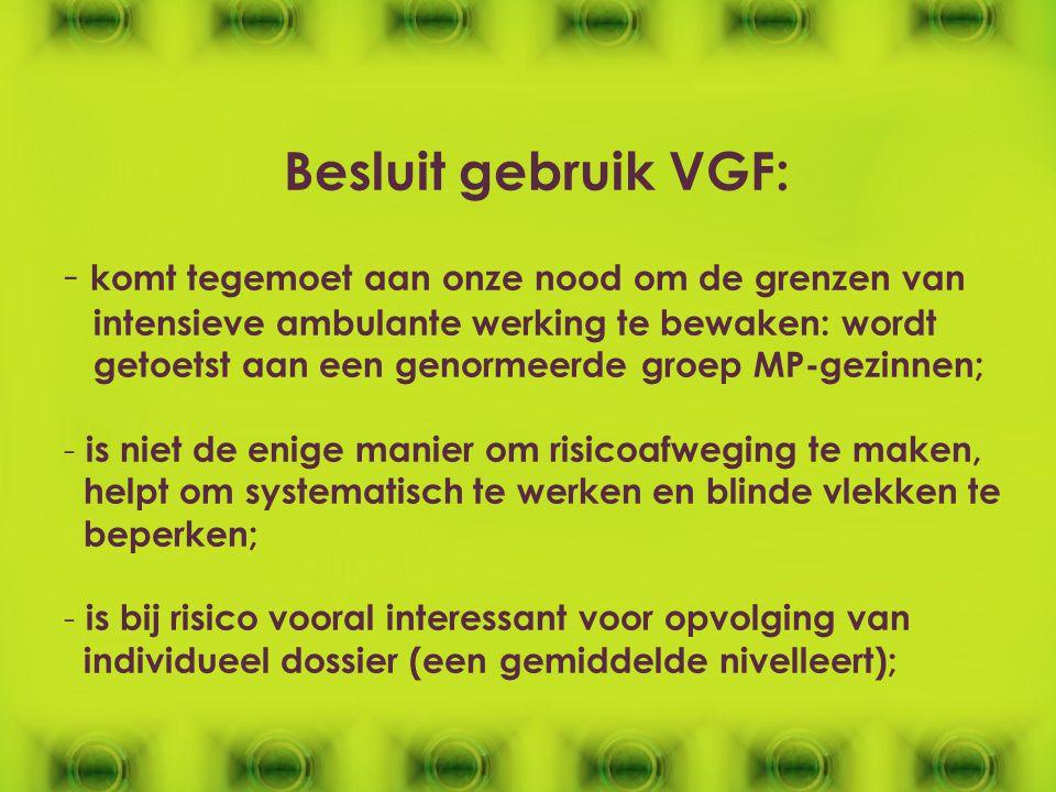 Besluit gebruik VGF: komt tegemoet aan onze nood om de grenzen van