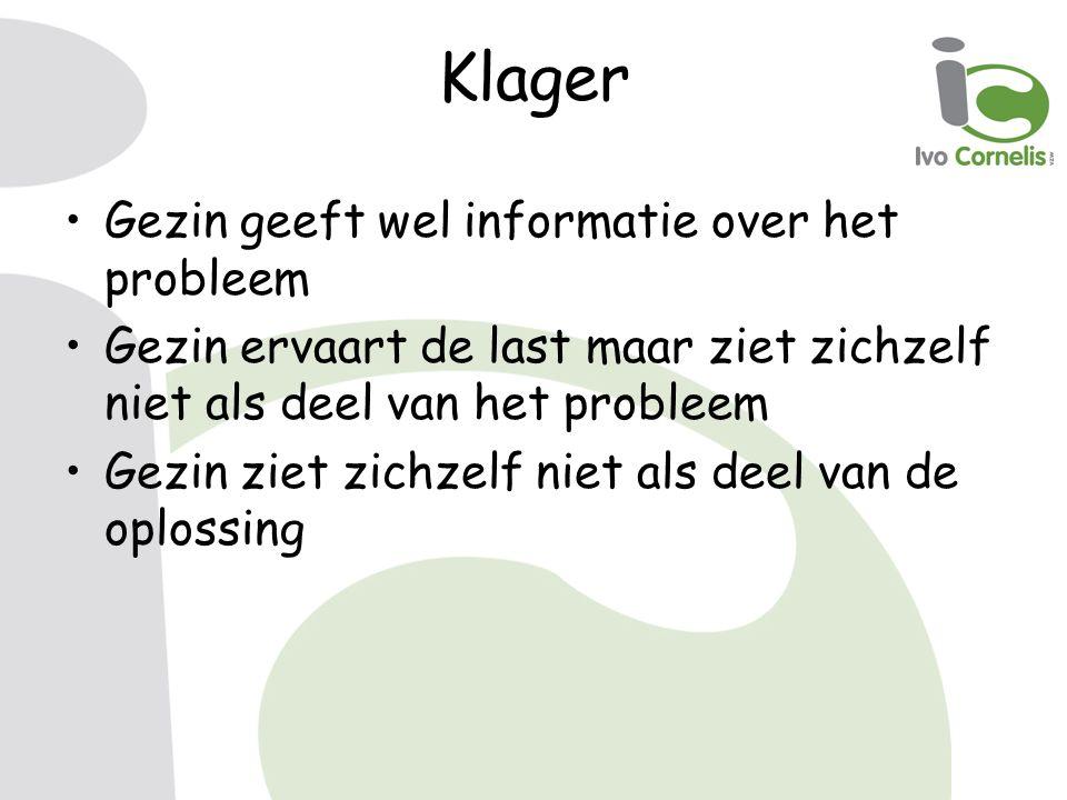 Klager Gezin geeft wel informatie over het probleem