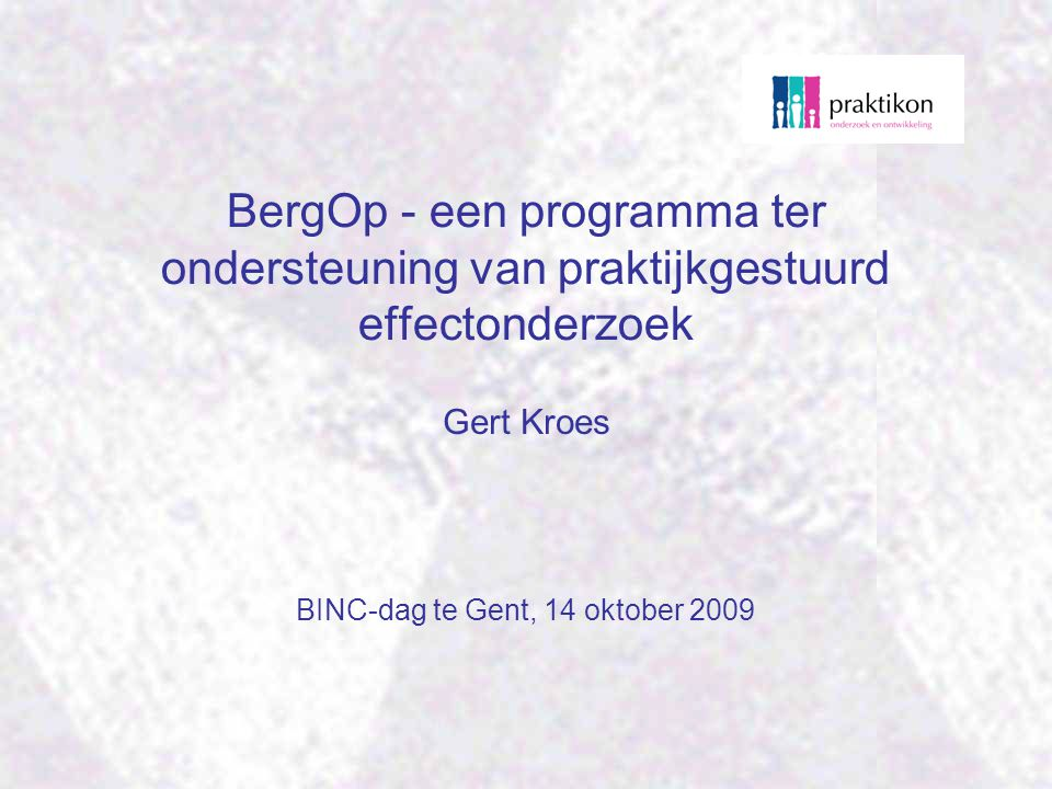 BINC-dag te Gent, 14 oktober 2009