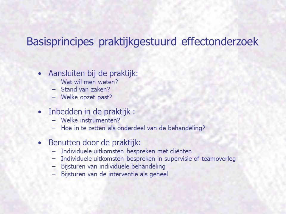 Basisprincipes praktijkgestuurd effectonderzoek