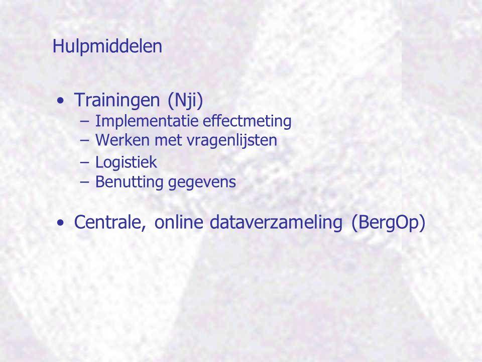Centrale, online dataverzameling (BergOp)