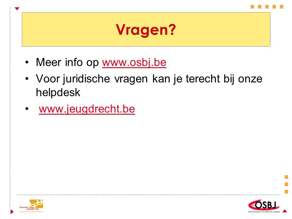 Vragen Meer info op www.osbj.be